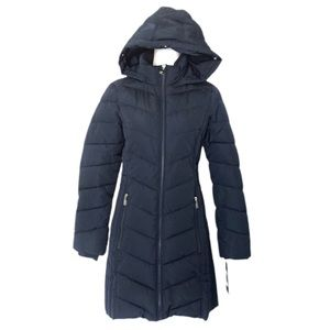 NWT Tommy Hilfiger Quilted Puffer Mid Length Coat